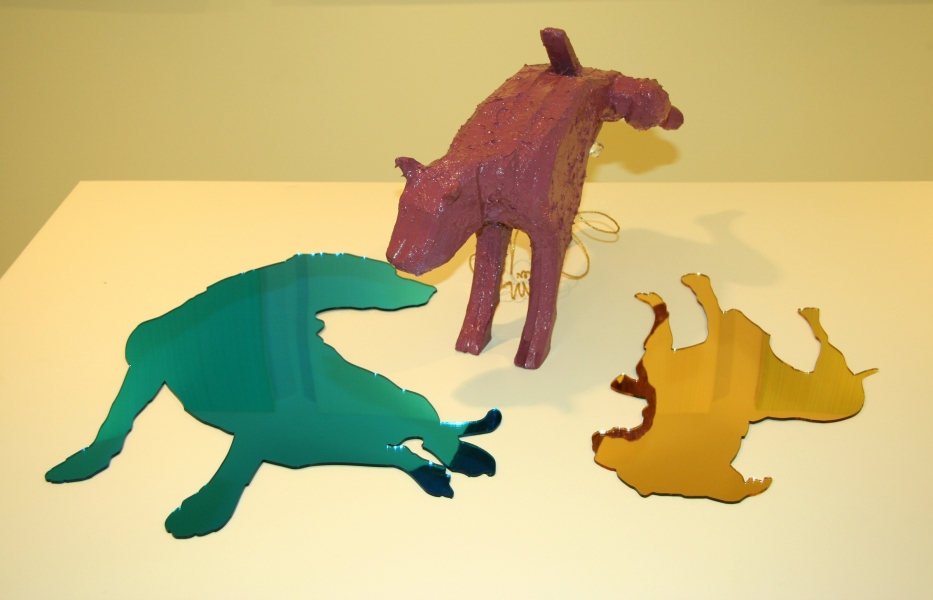 "2005 Rainbow Canine Architect installation view: ""Beautiful Beasts"""