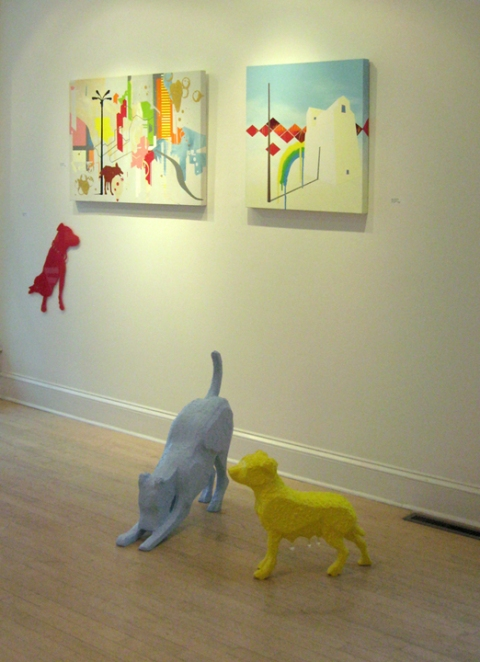 2005 Rainbow Canine Architect installation view, Sara Nightingale Gallery