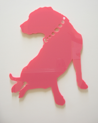"2005 Rainbow Canine Architect installation view: ""Pink Twist"""