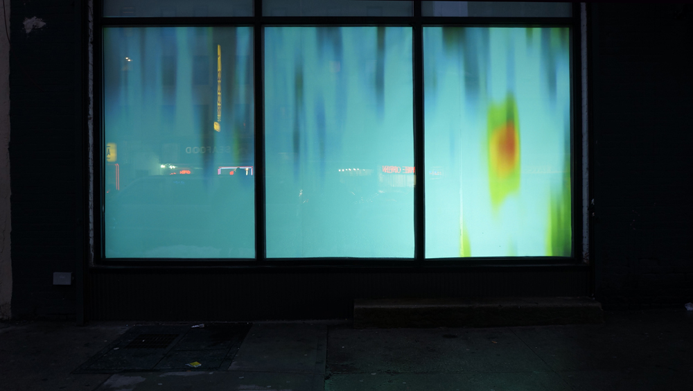"2013 ""Solar Cycle 24"". Installation view: chashama 1351 at Amsterdam Avenue & 125th Street, NYC"