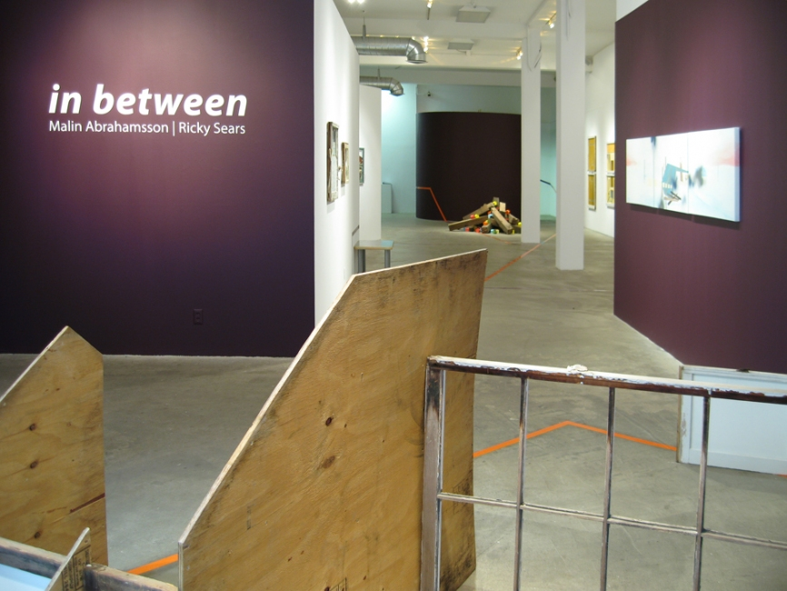 "2009 ""in between"" installation view"