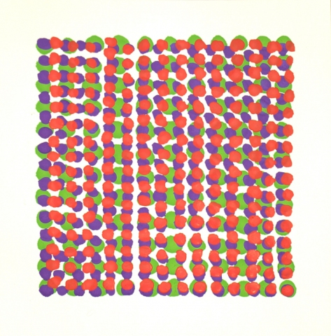 Manuela Friedmann Series: Grids (color) gouache on paper