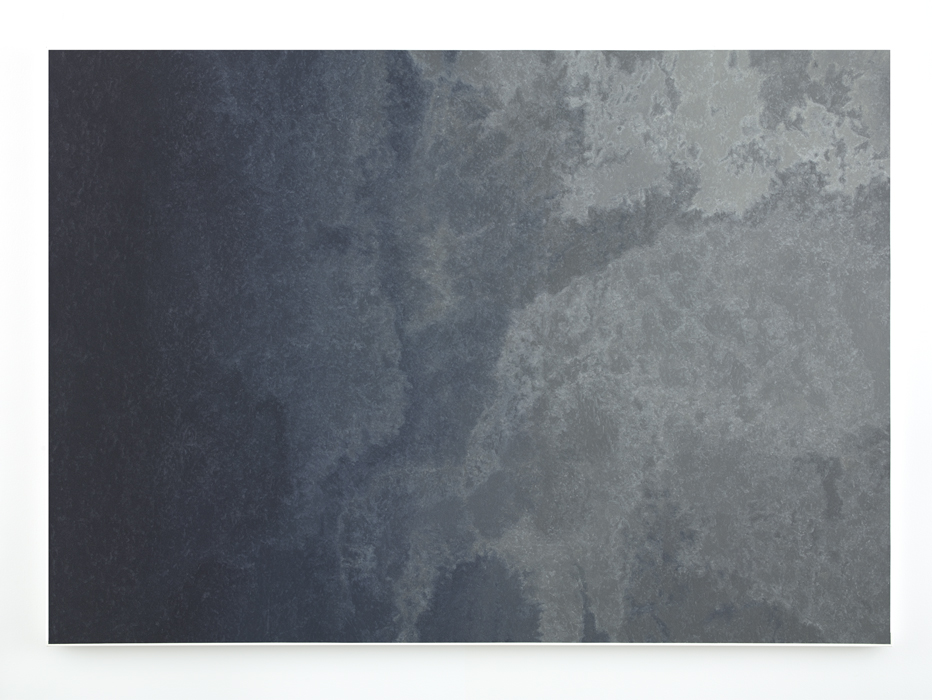 Marc Handelman Aggregates Oil and projection-screen glass on canvas