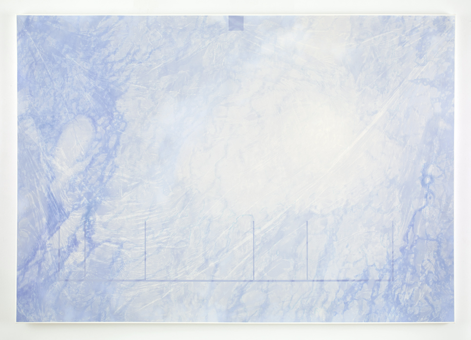 Marc Handelman Aggregates  Oil and Projection Screen Glass on Canvas
