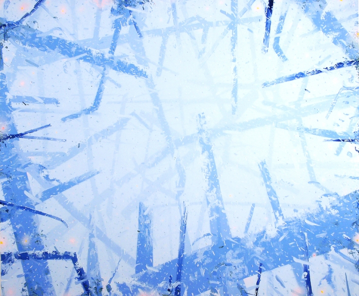 Marc Handelman Warm White Blizzard Oil on canvas