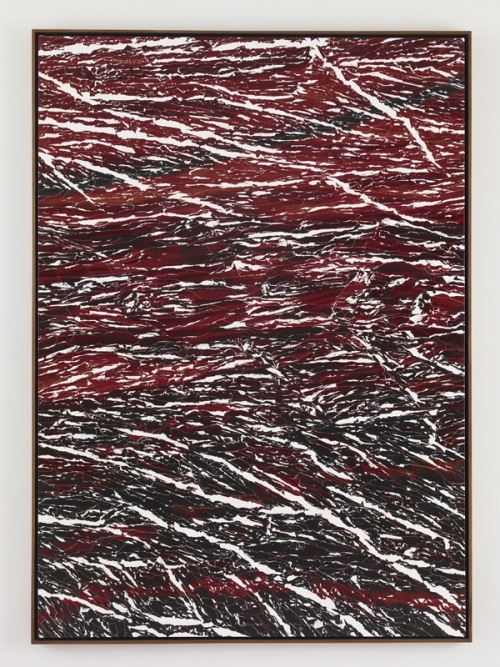 Marc Handelman Dimension Stone Oil on canvas, Mahogany frame