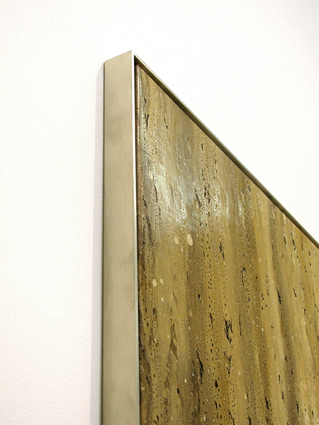Marc Handelman Continuous Grounds OIl on canvas, Aluminum Frame
