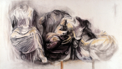 Margaret Keller Fragments Series Charcoal and pastel on paper