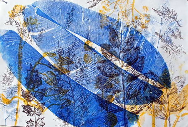 Margaret Matheson                                 Fine Art  Monoprints: Botanicals and Vessels Monoprint