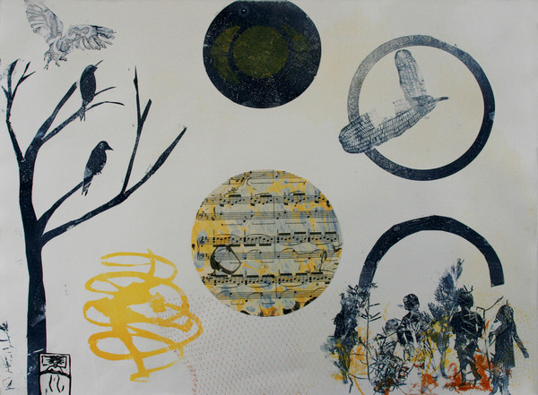 Margaret Matheson                                 Fine Art  Four Quartets Monoprint collage