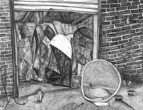 MARIA CALANDRA Pencil in the Studio Drawings Pencil on Paper
