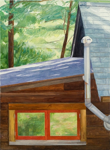 Maria Katzman Cabin Paintings Oil on Linen