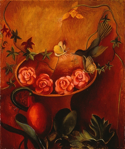Maria Katzman Flower Paintings Oil on Linen Panel