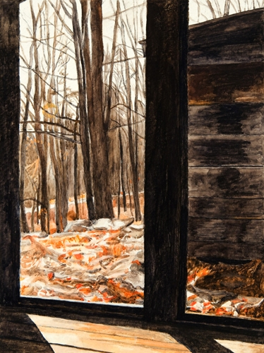 Maria Katzman Cabin Paintings Gouache