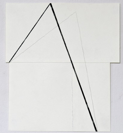MARIAN CAROW Works on Paper 2014-Current Black Gesso, Graphite on Glued Paper