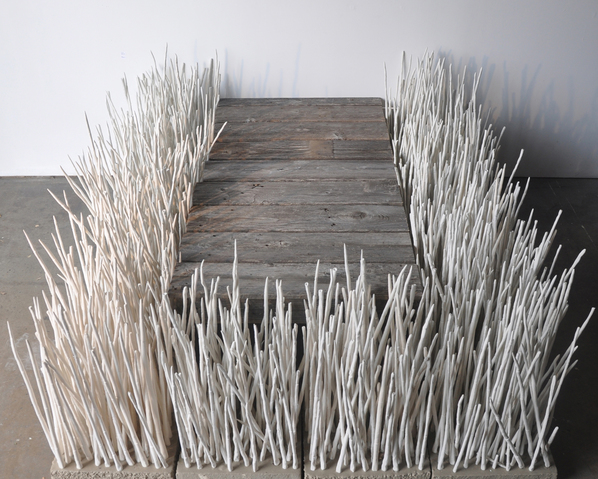 marianne mcgrath <b>works</b> porcelain, reclaimed wood, cement