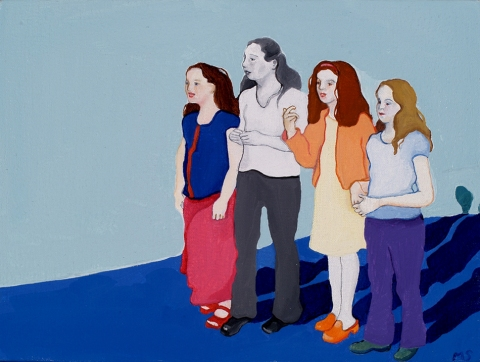 Maria Spector IN LINE PAINTINGS AND WORKS ON PAPER Oil on Canvas