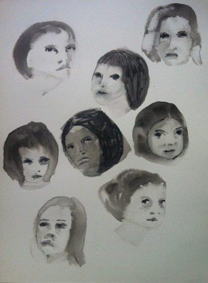 Figurative Works on Paper Height Heads