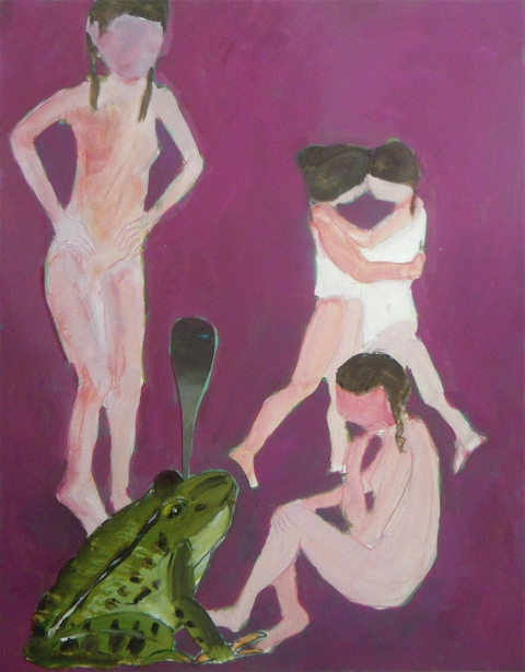 Figurative Collages Girls and Toad