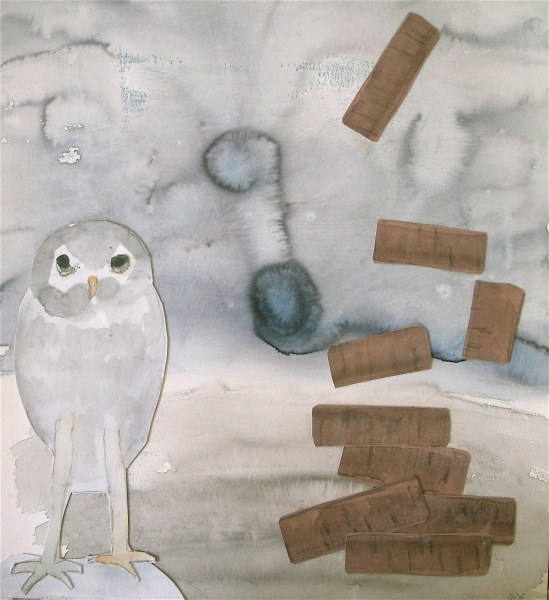 Figurative Collages White Owl