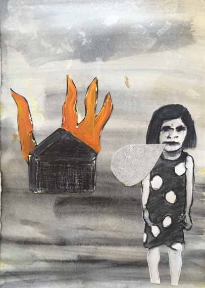 Figurative Collages House on Fire