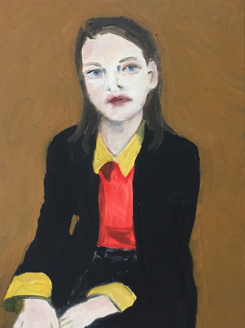 Portraits Girl with Belgian Suit