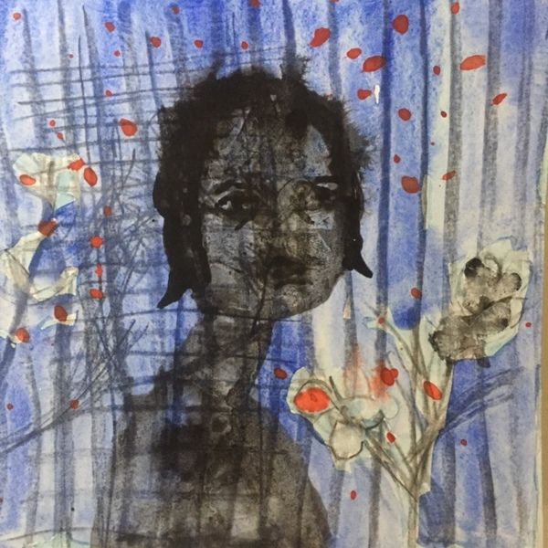 Figurative Works on Paper Flower Girl