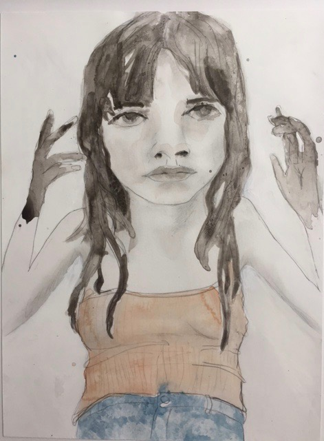 Figurative Works on Paper Dirty Hands