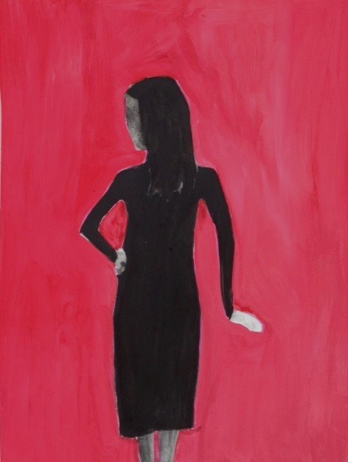 Figurative Works on Paper Untiled ( red girl)