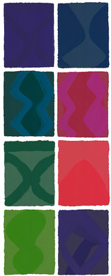 Marina Adams Monoprints Set of 8 framed monoprints, Edition 1