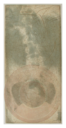 "Marina Mangubi Music ""on the Bones"" Intaglio, chine collé"