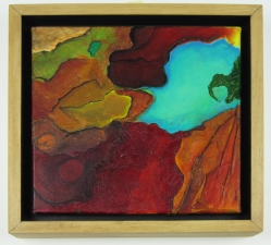 Marjorie Magidow Schalles Earth Art images Giclee Print on archival paper, wooden shadow frame
