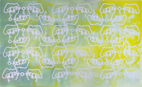 Marjorie Van Cura Hybrid Series - Works on Paper ink, gel medium, oil and galkyd on rag paper
