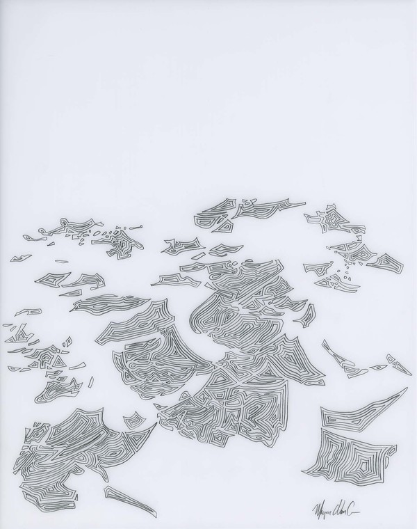 Marjorie Van Cura Recent Drawings on Film graphite on translucent film
