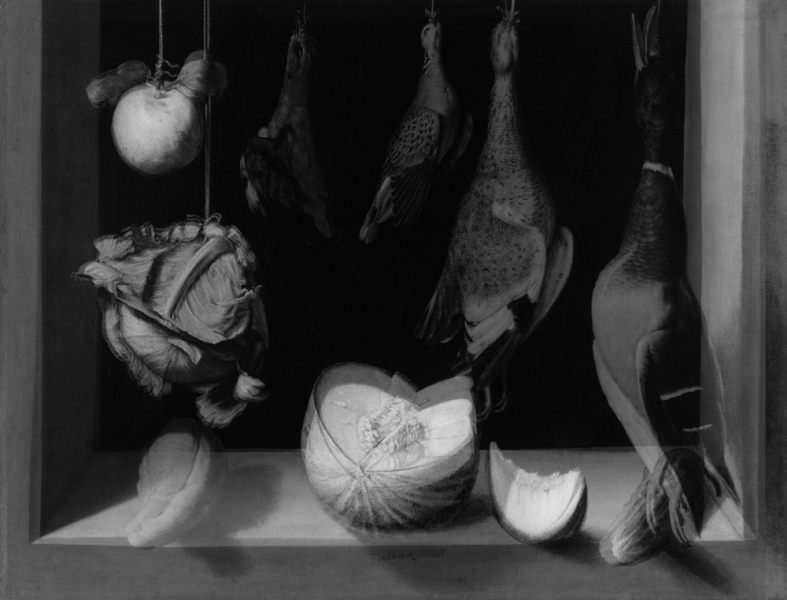 mark booth SPANISH STILL LIFE (OR A LARGE LIST OF MERGED ANIMALS)