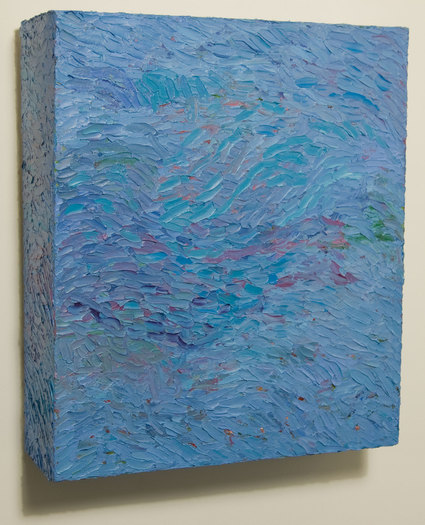 Box Paintings Oil on canvas over box structure