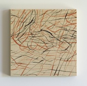 Marsha Goldberg Smoke Rises: ink drawings 2012-14 ink on wood panel