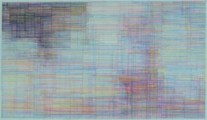 Marsha Goldberg Excerpts (Smoke Rises), colored pencil, 2015 colored pencil on translucent Yupo