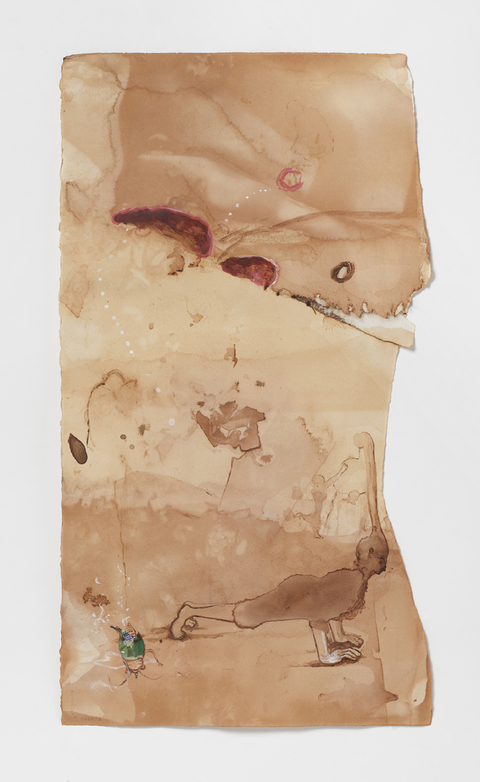 Marsha Nouritza Odabashian Works on Paper 2015-17 Onionskin Dye and Mixed Media on Paper