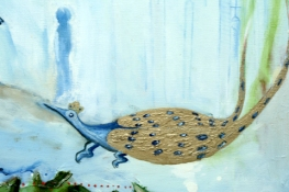 Marsha Nouritza Odabashian About In The Shade of the Peacock and Half Perceived: Stalking the Peacock (Click to open)  Oil Paint on Canvas