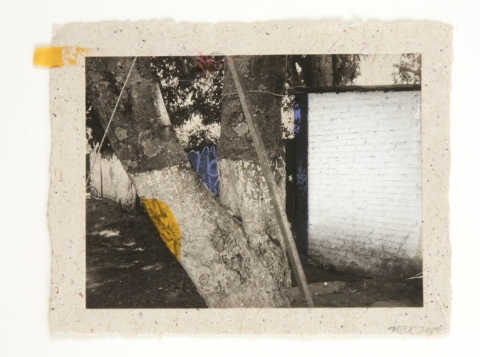 Martie Zelt Mexico Neighborhood 2009 Photoetching on handmade paper and chine collé