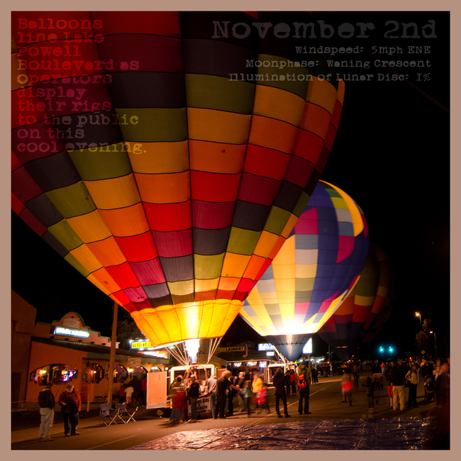 Autumn Almanac November 2nd:  Balloon Glow
