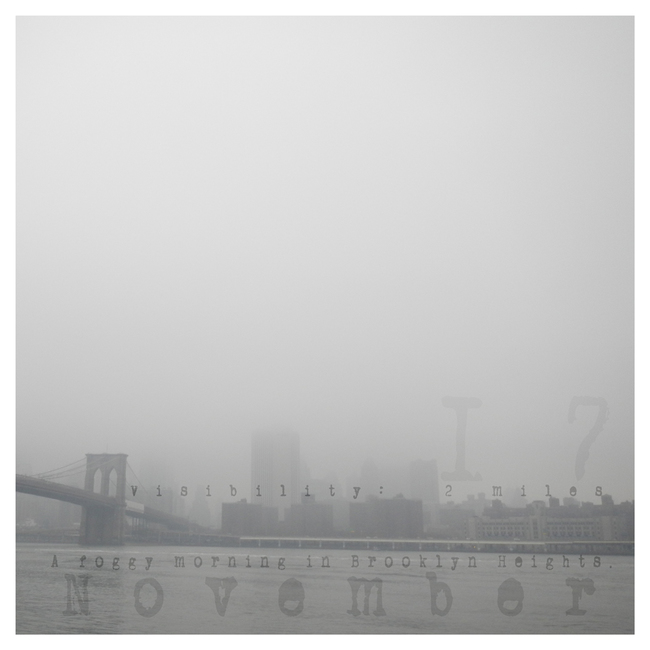 Autumn Almanac Noveober 17th:  Fog on Manhattan
