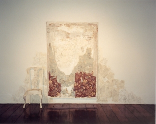 Marty Baird Installations acrylics, oils, wallpaper, graphite, paper, chair