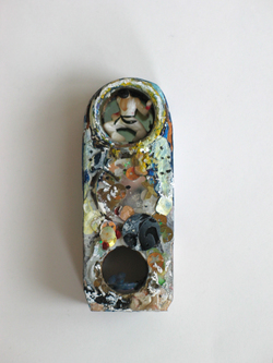 Marty Greenbaum Wall Reliefs wood, glass, sequins, mixed media