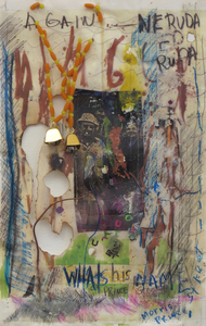 Marty Greenbaum Missing In Action mixed media