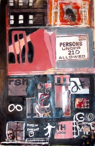 Marty Greenbaum The City mixed media on paper