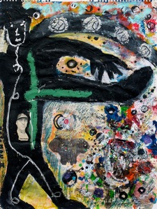 Marty Greenbaum Mojo Man mixed media