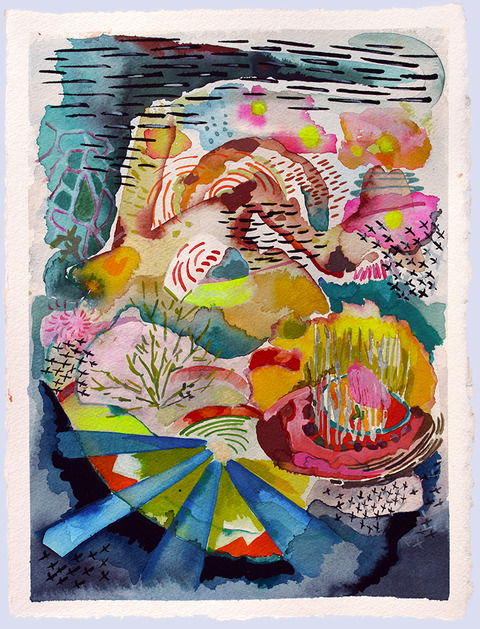 Mary Addison  HACKETT Works on Paper Watercolor, gouache, acrylic on 300# Arches paper