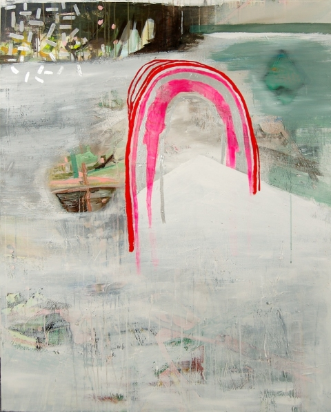 mary addison  HACKETT (2011) My Work Here is Just Beginning oil and mixed media on canvas